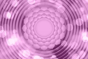 Korunná čakra - fialová