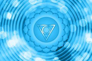 Hrdlová čakra - modrá